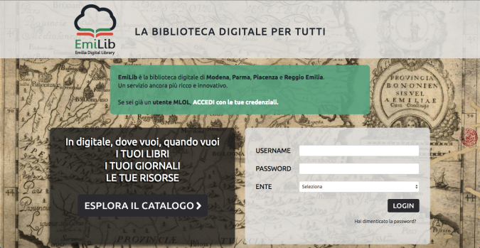 EmiLib, la biblioteca digitale di Modena, Parma, Piacenza e Reggio Emilia