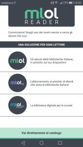 MLOL Reader - Scelta Catalogo
