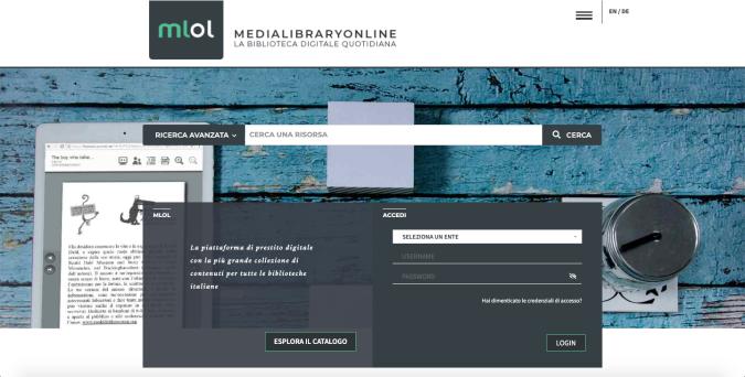 La nuova homepage di MLOL
